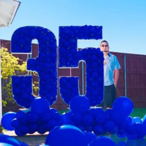 Balloons model Rafeal numbers (5ft) and 8ft from garland