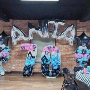 Balloons mockup set retro party theme