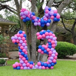 5ft yard balloons set with 8ft garland