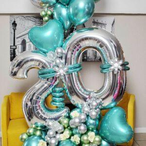 Birthday balloons flowers