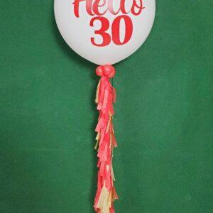 Jumbo balloons white