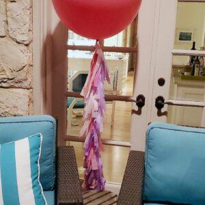 Jumbo balloons coral